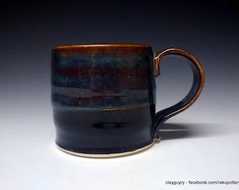 Ceramic Mug - Handmade Pottery - Blue Stoneware