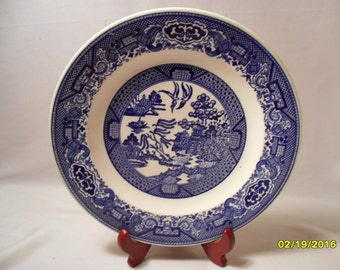 Vintage Blue Willow Ware by Royal China 9 Inch Dinner Plate