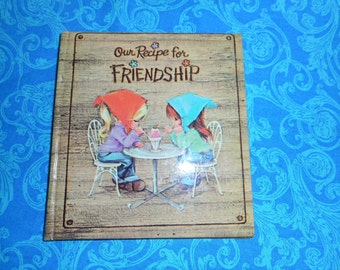 Book, Small, American Greetings, Vintage, 1960s, Recipe for Friendship, Sunbeam Library, Gift, Girls, Illustrated