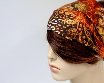 Exotic Print Headband Womens Headband Fabric Headband Bandana Headband Head Wrap Hair Accessory Womens Gift for Her Gift Ideas
