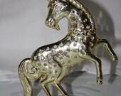 Torino Metal Rearing Unicorn Earring Holder, Vintage