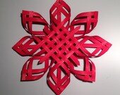Scandinavian Star Christmas Star Topper Star of Bethlehem - Red Dyed - Extra Large