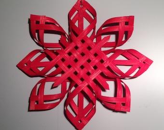 Scandinavian Star Christmas Star Topper Star of Bethlehem - Red Dyed - Extra Large