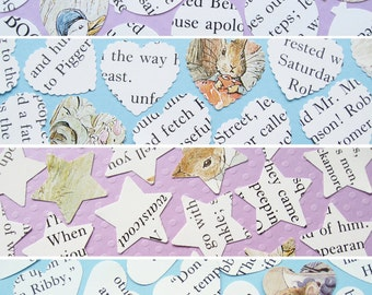 500 x 1 Inch Beatrix Potter Confetti - 4 shape choices - Baby Shower, Birthday Party, Christening - Table Decor
