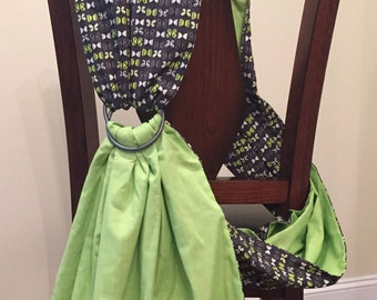 Ring Sling Baby Carrier with matching clutch