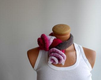 Floral  Neckwarmer, scarf, flowery cowl, women scarf...
