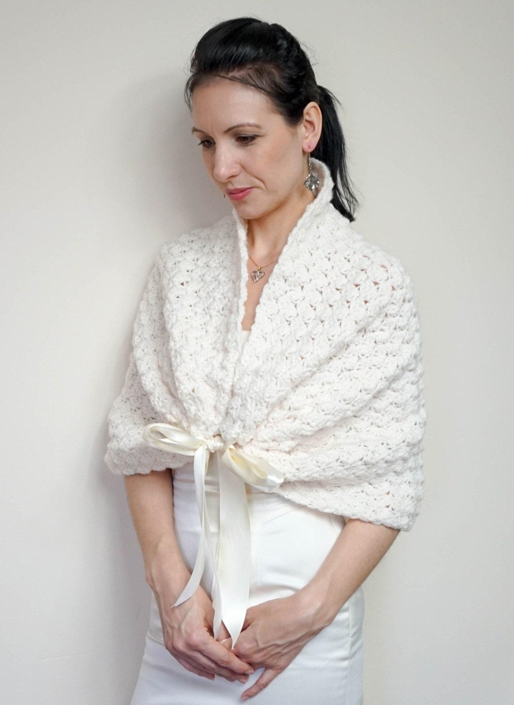 White bridal bolero wedding shrug lace elegant crochet bolero for White bolero for wedding dress