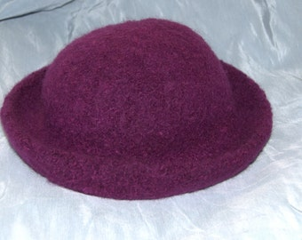 Felted Hats  Deep Purple