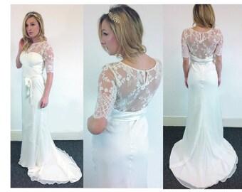 Boho Chiffon wedding dress