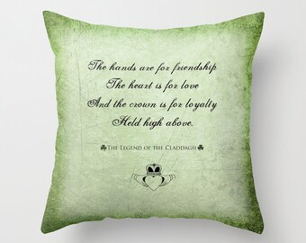 "Ireland Throw Pillows / Indoor Cover (16"" x 16"") with pillow insert"