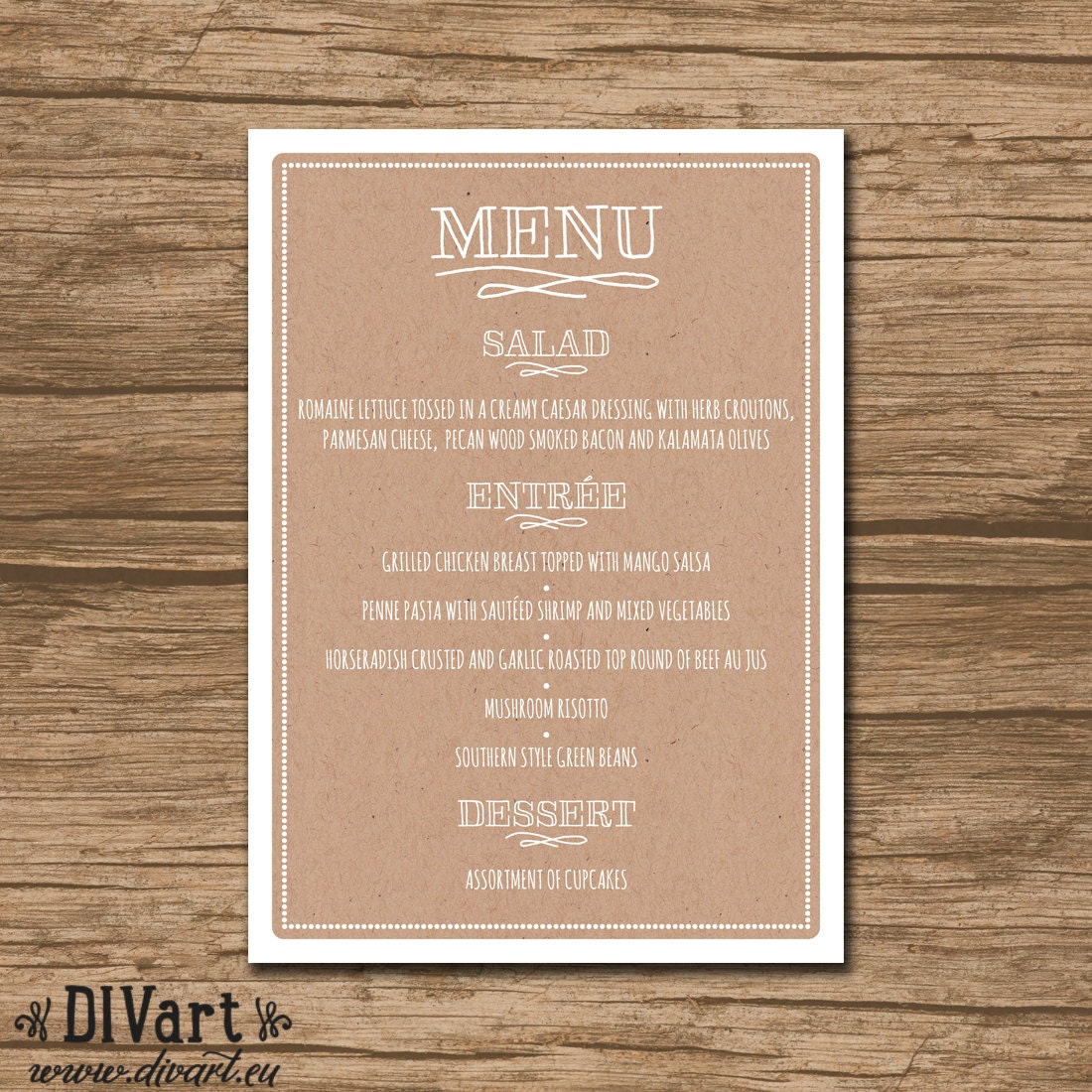 Nautical Wedding Menu Rehearsal Dinner Menu Reception Menu: PRINTABLE Wedding Menu Rehearsal Dinner Menu Reception Menu