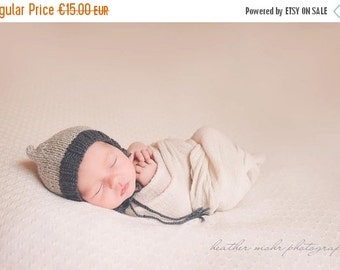 SALE 20%OFF Newborn Pixie Photo Prop Bonnet hat- Prop Newborn Hat- Wool Bonnet Hat- Knit Baby Hat-Many color choices