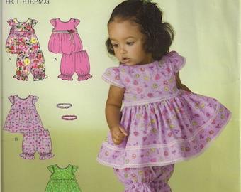 Simplicity Sewing Pattern 2982 - Babies' Top, Pantaloons, and Headband (XXS - L)