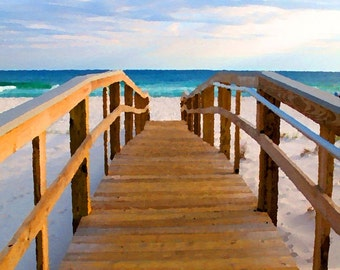 Scenic Pensacola, Florida Beach 12x18 Limited Edition Print
