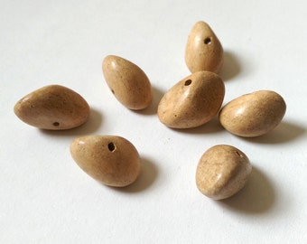 Smooth wooden nugget beads