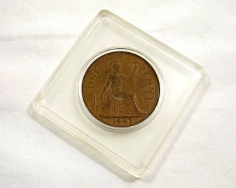 1963 Great Britain One Penny Coin