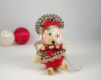 Vintage Mouse Christmas Ornament by Kurt Adler 1984