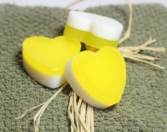 Baby Shower Favors, Hearts set of 3- soaps