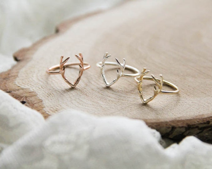 Antlers Horns Ring, 3 Colors Horns Ring, Horns Jewelry