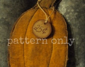 E-Pattern Flat Pumpkin Ornie Instant Download