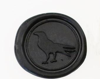 Raven Wax Seal Stamp/wedding sealing wax/crow seal-WS054