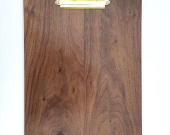 Solid walnut clipboard