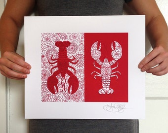 Lobsters for Your Beach House, signed 8x10 fine art print