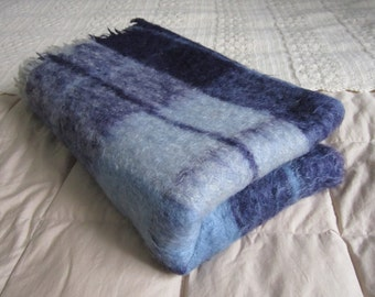 Vintage Mohair Blanket/Throw - Made in Scotland