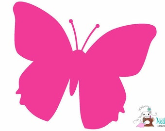 DIY Iron On Heat Transfer Decal - BUTTERFLY - Flock Film - approx. 11,5 x 10 cm - various colours