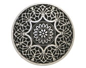 6 Safi 9/16 inch ( 15 mm ) Metal Buttons Silver Color