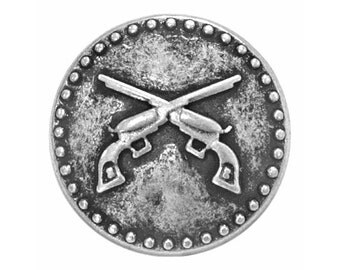 12 Pistols 11/16  inch ( 17 mm )  Metal Buttons Antique Silver Color