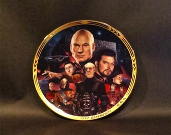 Star Trek Collector Plate From Next Generation Artist Dave Archers Personal Museum