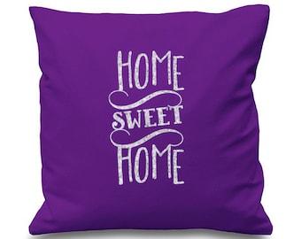 Home Sweet Home Glitter Printed Cushion Cover