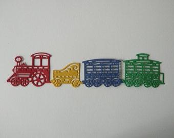 4pc Train Die Cut Embellishment set for Scrapbooking & Card Making