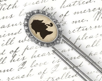 Sherlock Holmes Bookmark, Literary Bookmark, Altered Art Bookmark, Picture Charm Bookmark, Large Paper Clip Bookmark