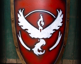 POKEMON GO Shield Team Valor, Instinct and Mystic for LARP or Cosplay