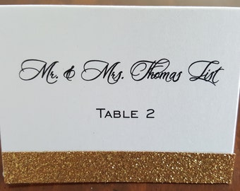 glitter place cards gold glitter place cards wedding place cards wedding escort cards