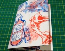 risograph art zine - oban beachcombing