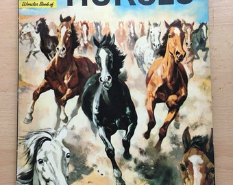 Wonder Book of Horses, vintage children's book