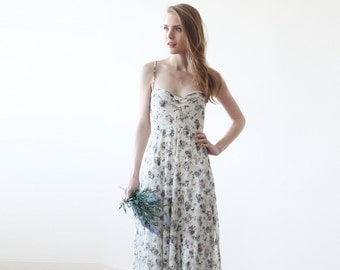 Floral Lace maxi straps ballerina gown, Sweetheart neckline maxi spring dress , Green dress 1080