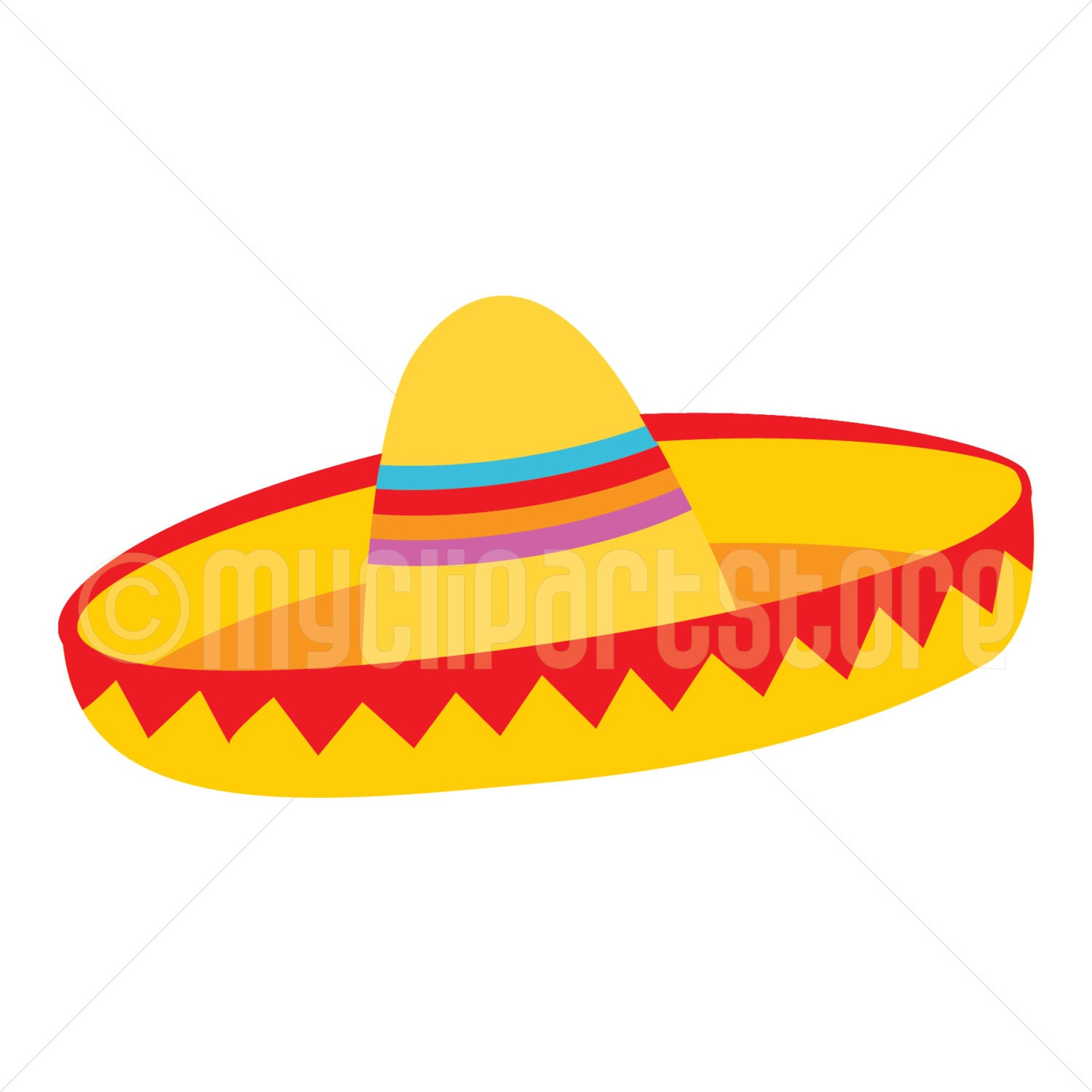 Clipart Yellow Sombrero Hat 1 / Cinco De Mayo / Mexican