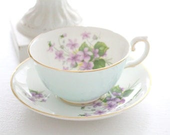Mid Century, English Fine Bone China Tea Cup and Saucer by Royal Grafton, Tea Party - c. 1957 - 1960