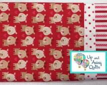 Pillowcase Kit - Red Reindeer Christmas