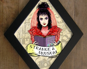 Lydia Deetz (Winona Ryder)  from Beetlejuice Diamond framed print. Strange and unusual