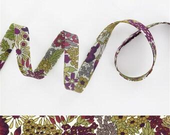 1 yard - Liberty of London, Tana Lawn fabric, bias tape - Print: Margret Annie C