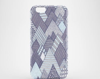 Winter Pines mobile phone case, iPhone 7, iPhone 7 Plus, iPhone SE, iPhone 6S, iPhone 6, iPhone 5S, iPhone 5, winter illustration phone case
