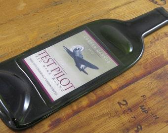 Flat Wine Bottle - Test Pilot Red Wine Blend Cooper-Garrod Winery