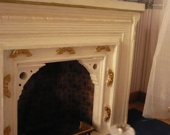 fireplace, scale 1: 6, for Blythe, barbie, Pullip...