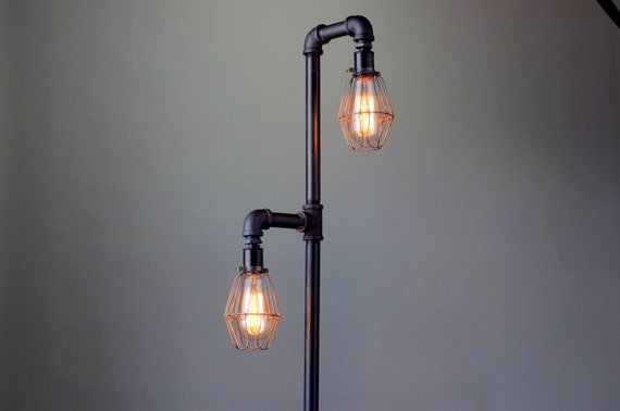 pipe floor lamp industrial floor lamp edison bulb standing lamp. Black Bedroom Furniture Sets. Home Design Ideas