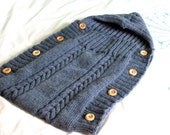 KNITTING PATTERN Baby Hoodie Sleeping Bag and Hat Set Knitted Newborn to 2 Years Boy Girl Unisex Baby Clothes Sleepwear Nightwear Pyjamas
